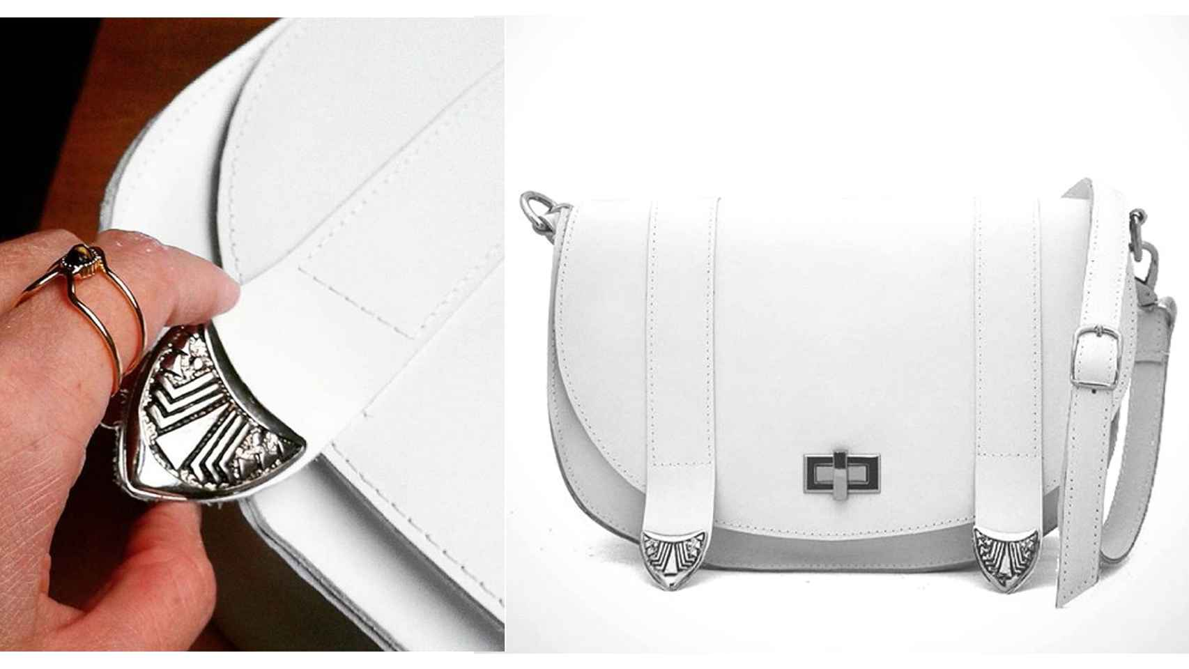 Bolso blanco Ashley.