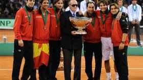 El equipo español que conquistó la Copa David en Sevilla en 2011.