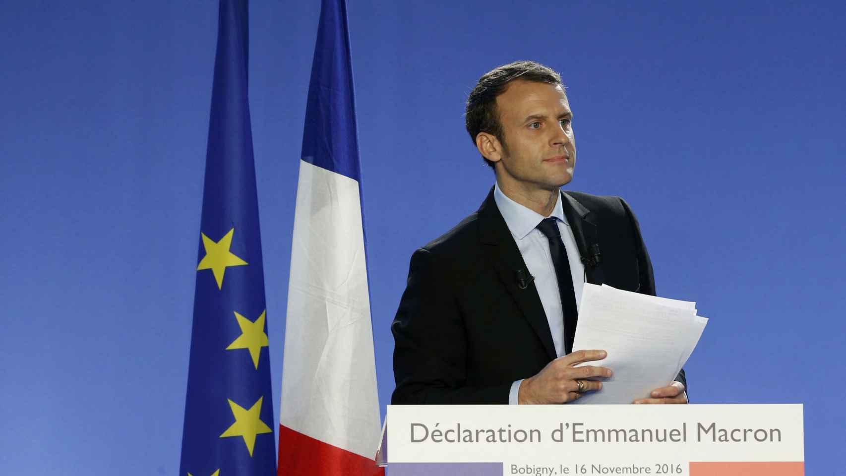 Macron anuncia su candidatura a las presidenciales francesas de 2017.