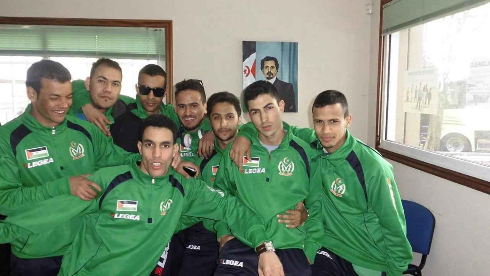 Jugadores de la selección saharaui.