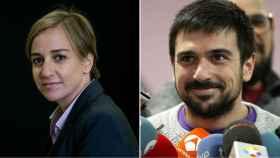 Tania Sánchez y Ramón Espinar.