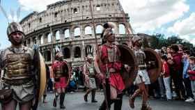 Celebraciones el pasado 21 de abril de la creación de Roma hace 2.766 años.