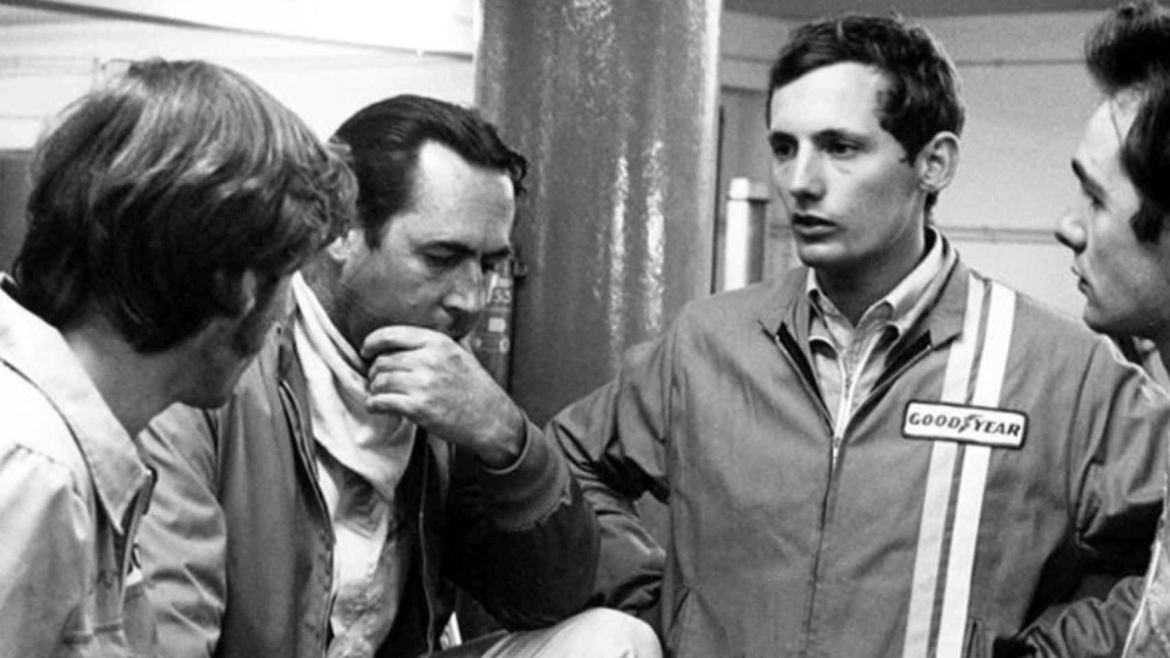 Jack Brabham y Ron Dennis, en 1970.