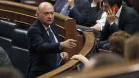 El exministro del Interior, Jorge Fernández Díaz, en el Parlamento.