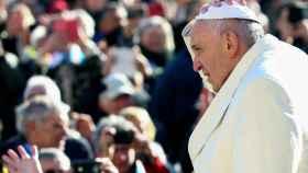 El papa Francisco, durante una de sus audiencias generales en la plaza de San Pedro del Vaticano.