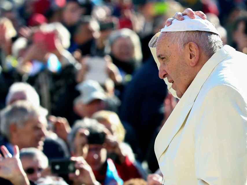 El papa Francisco, durante una audiencia general en la plaza de San Pedro del Vaticano.
