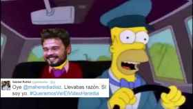 Los Simpsons predijeron la polémica del coche oficial de ERC.
