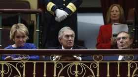Imagen de la tribuna de autoridades con Esperanza Aguirre.