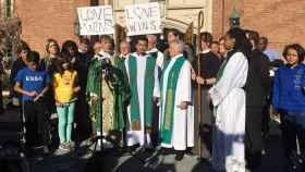 El amor vence, el lema con el que esta iglesia de Washington DC responde a los mensajes de odio.