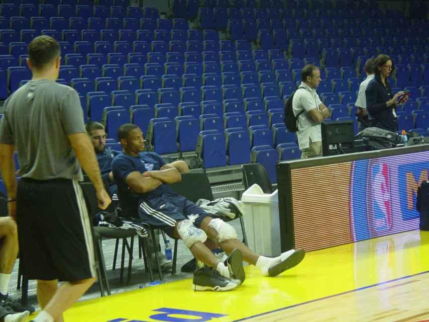 Westbrook descansa en uno de sus entrenamientos en Madrid el pasado octubre.