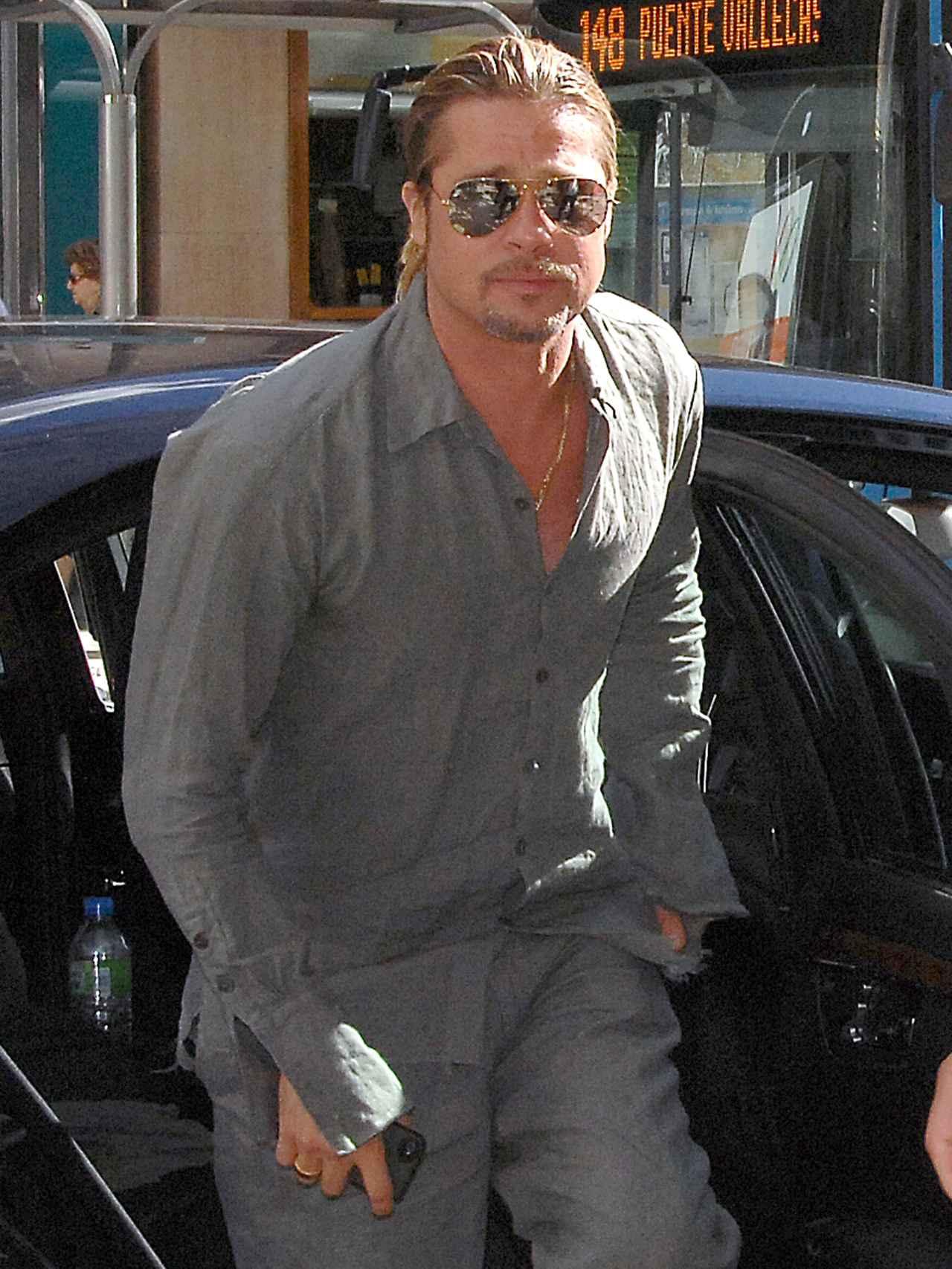Brad Pitt en su última visita en Madrid