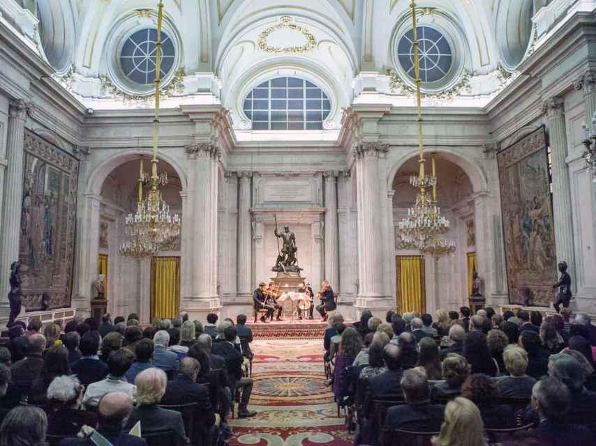 Concierto del cuarteto polaco en el Salón de las Columnas.