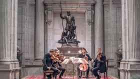 El cuarteto Lutoslawski interpretando a Mozart, el pasado jueves 10.