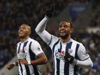 Matt Phillips celebra un gol con el West Bromwich Albion.