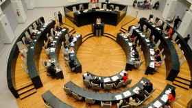 Vista panorámica del pleno del Ayuntamiento de Madrid.