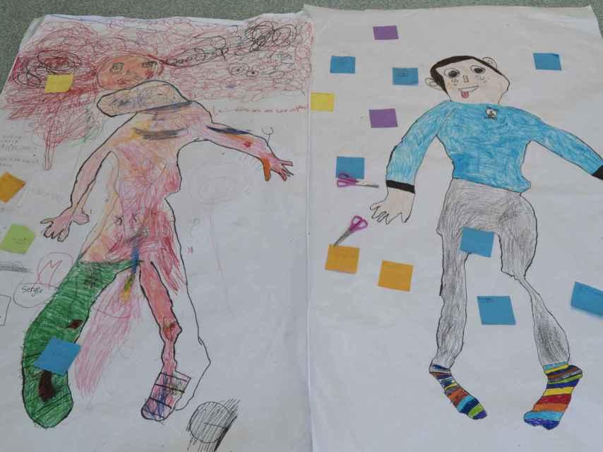 Resultado del trabajo realizado por los niños de seis años