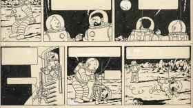 Pagan 1,55 millones de euros por una página original de un cómic de Tintín