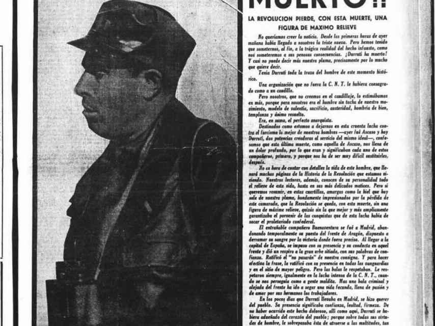 Portada del diario Solidaridad obrera.