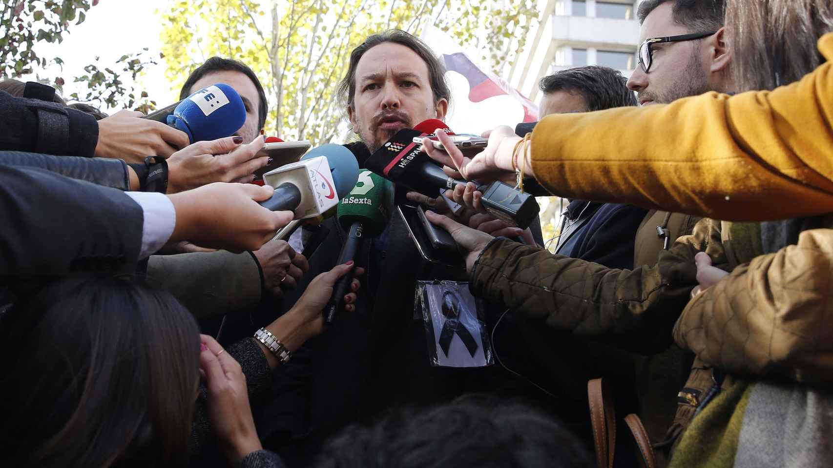 Iglesias y Garzón en una protesta reciente.