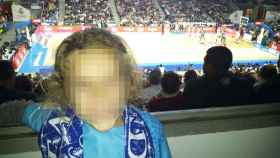 Marta en el Palacio de los Deportes viendo un partido del Real Madrid de baloncesto la pasada semana