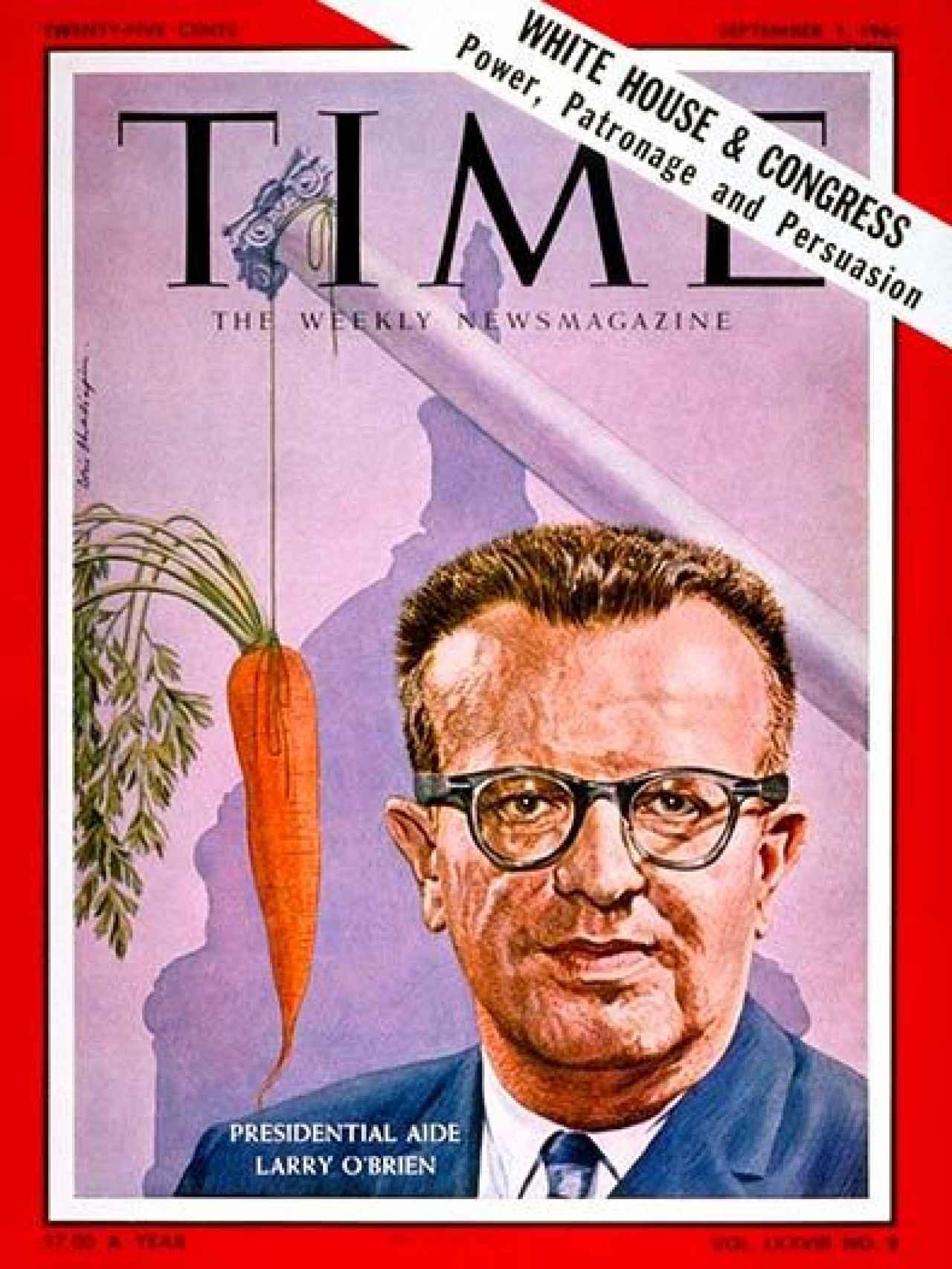 Portada de la revista Time que protagonizó en 1961.