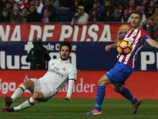 Isco, en el partido ante el Atlético.