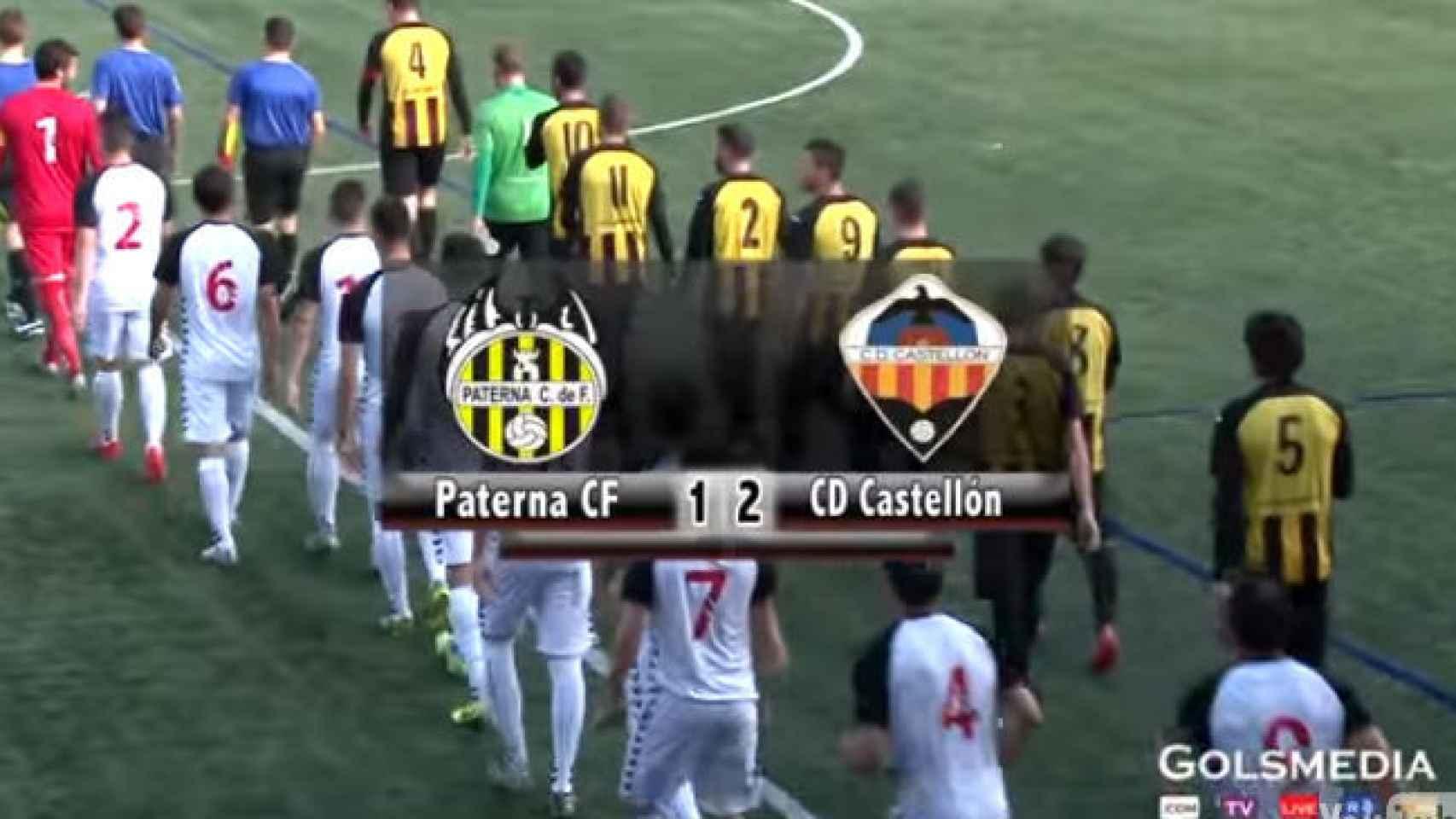 Imagen del partido Paterna CF contra el CD Castellón, celebrado en diciembre de 2015.