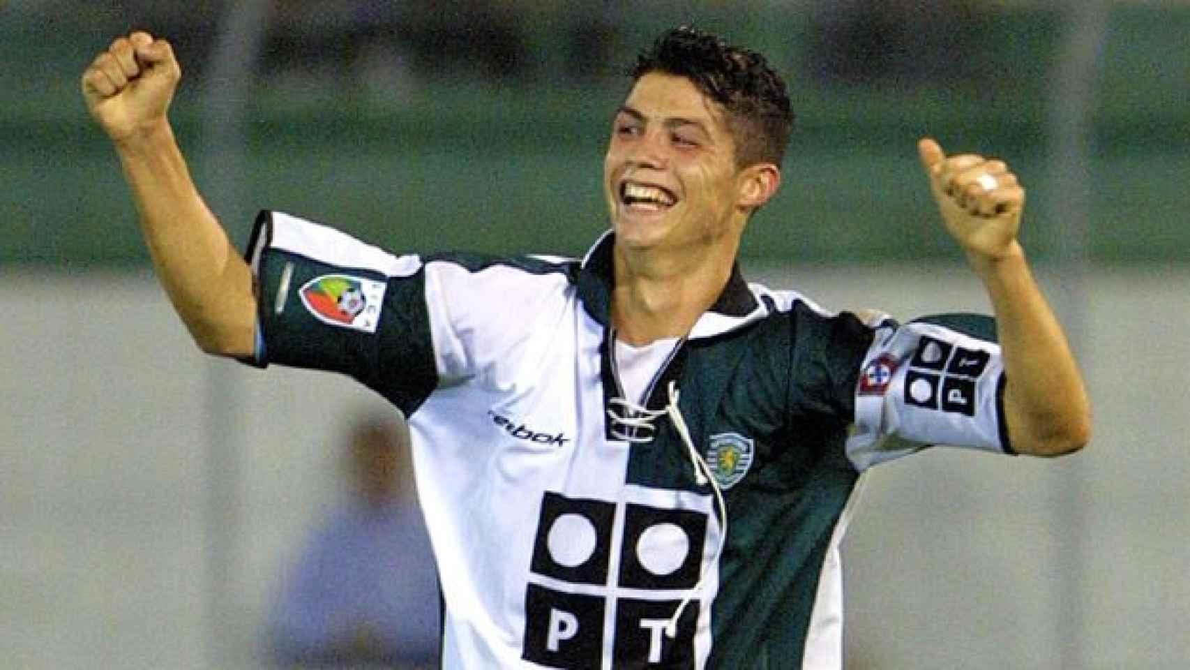 Cristiano Ronaldo en el Sporting.