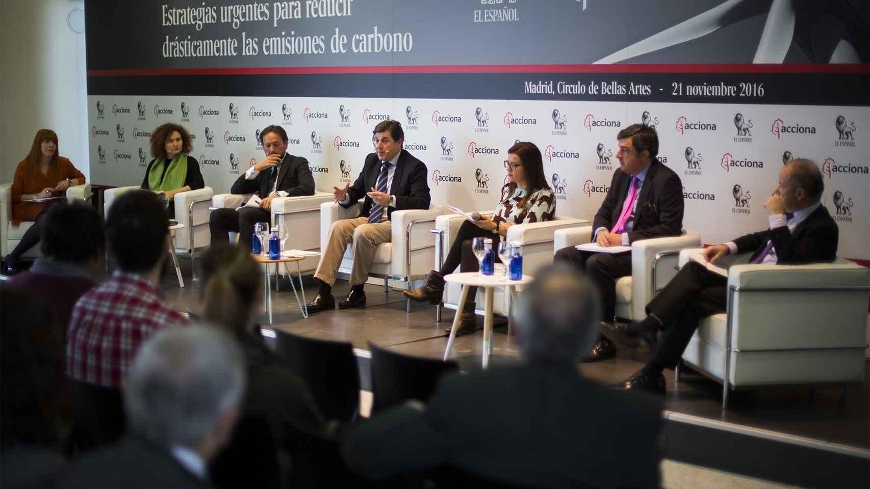 Los participantes en el Foro sobre Cambio Climático EL ESPAÑOL-Acciona.