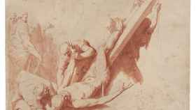 Martirio de san Pedro, dibujado por José de Ribera.