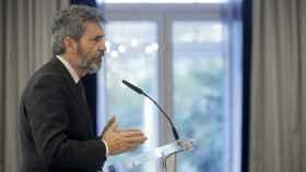 Carlos Lesmes, durante su conferencia en un desayuno informativo.