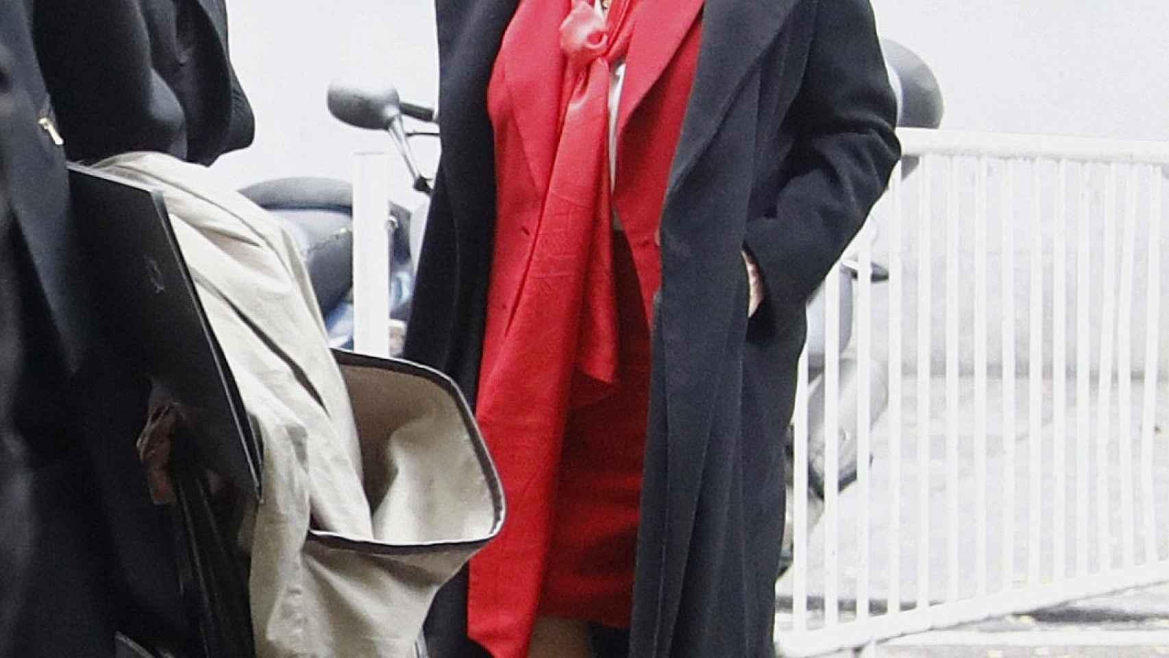 Rita Barberá a su llegada esta mañana a la sede del Tribunal Supremo