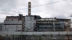 Vista general de la central nuclear de Chernóbil.
