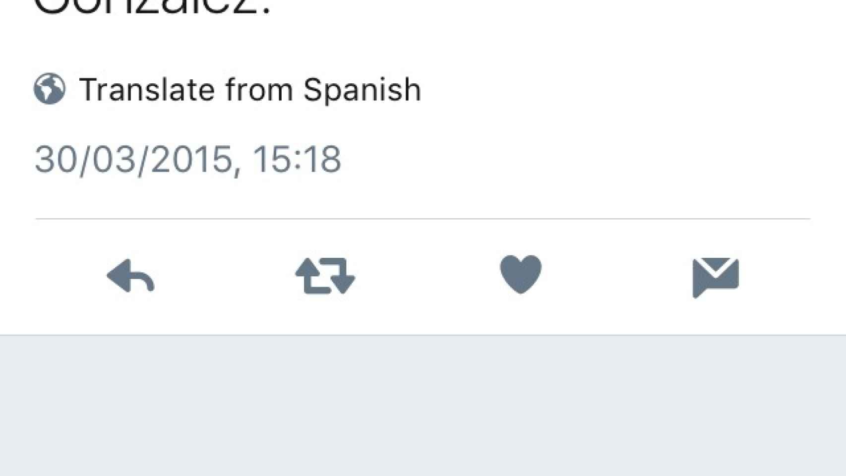 Un tuitero comenta el moreno de González