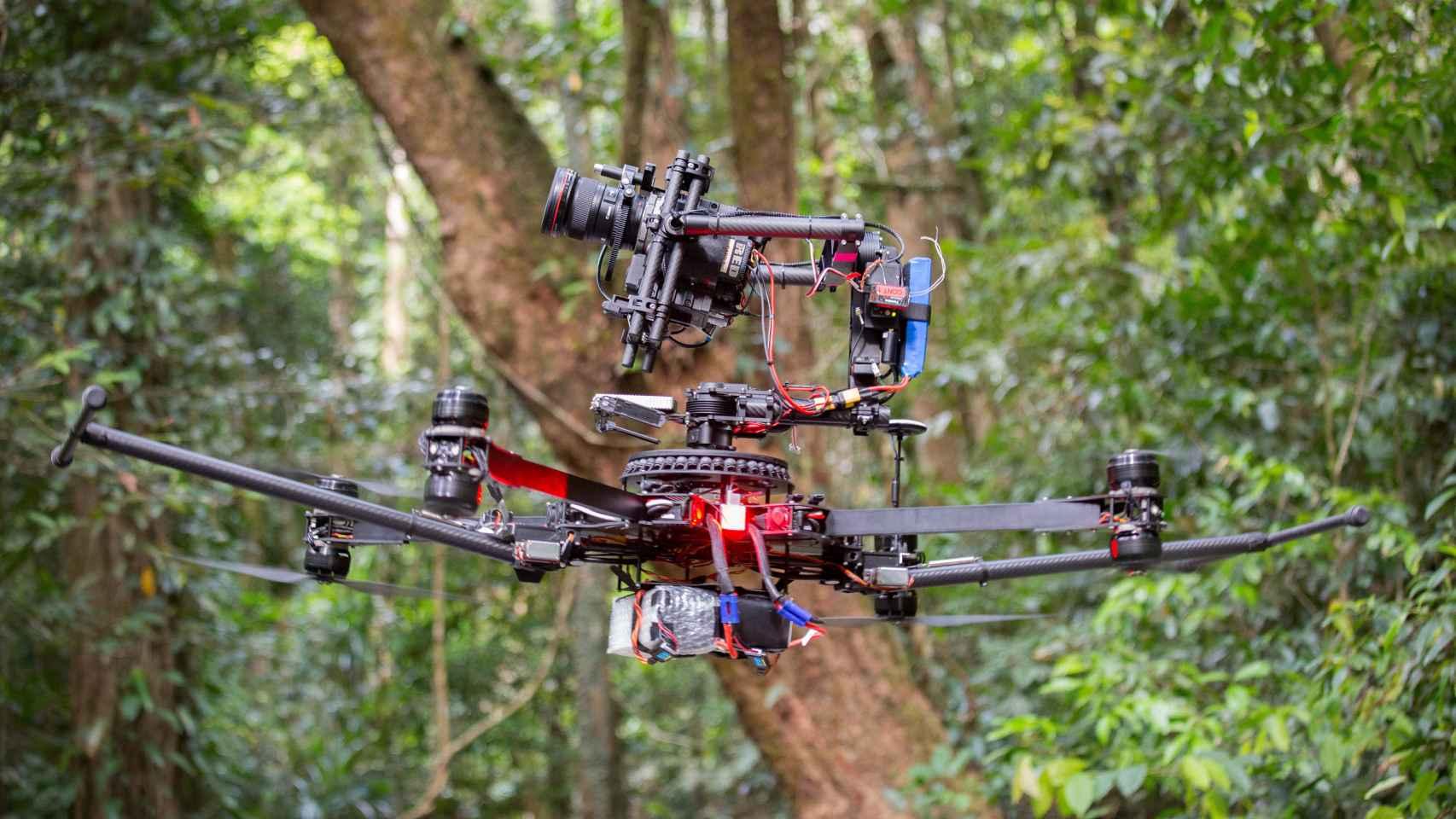 Un drone empleado en el rodaje de Planet Earth II.