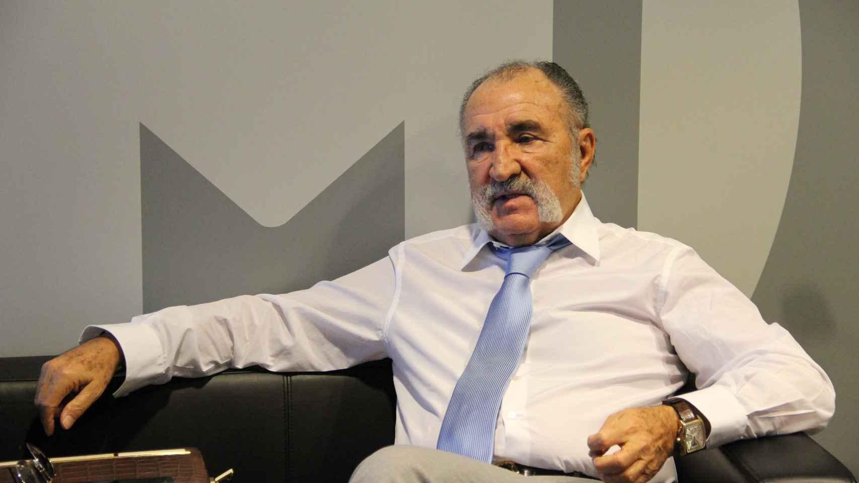 Ion Tiriac, durante la entrevista.