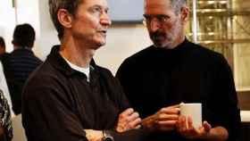 Tim Cook y Steve Jobs.