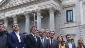 La cúpula nacionalista ha apoyado a Homs este martes en Madrid