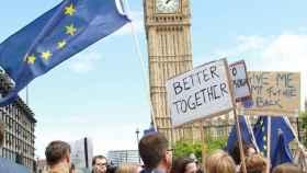 Manifestación en Londres en protesta por el 'brexit'.