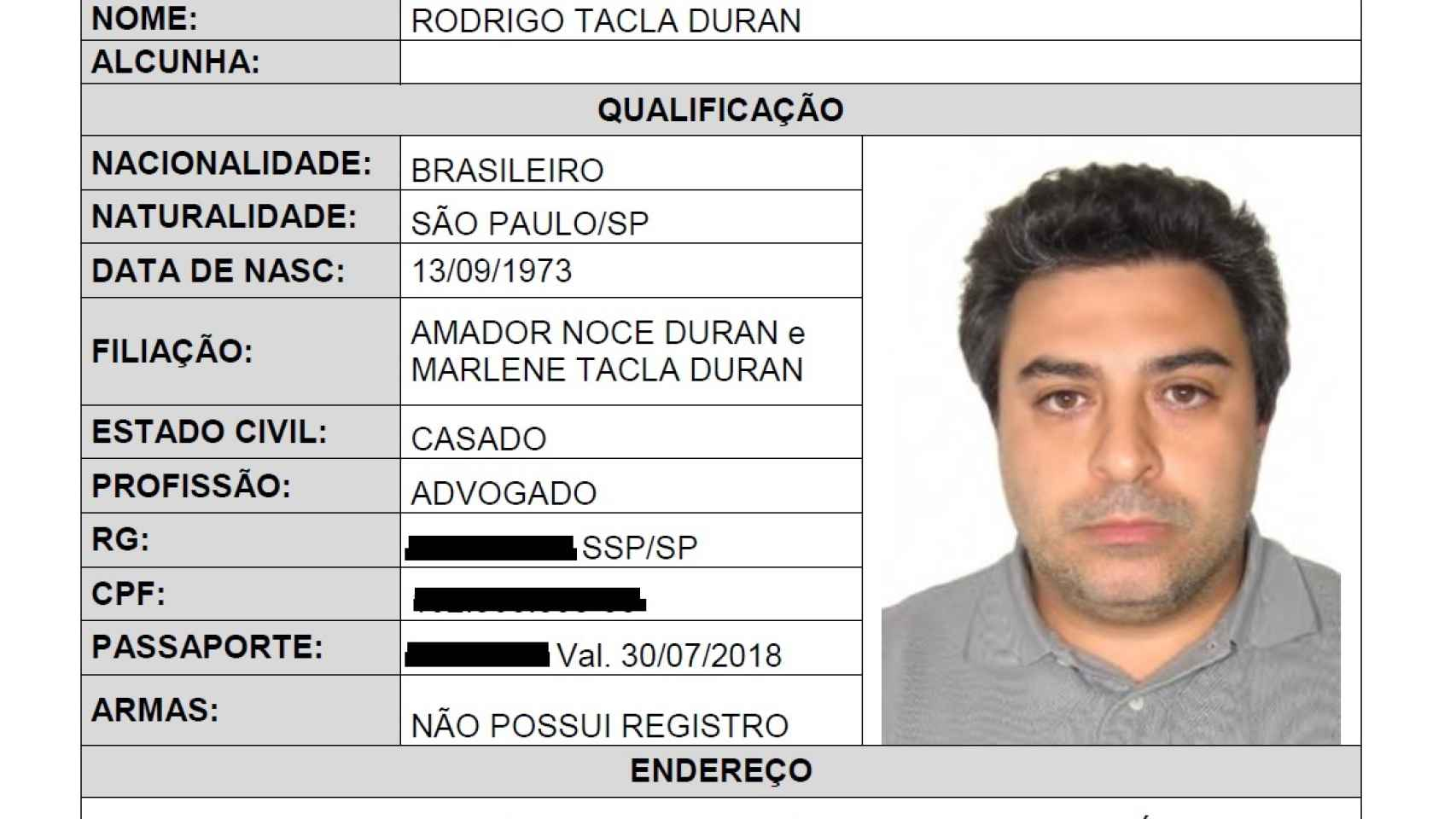R. Tacla Durán, supuesto cerebro financiero de la trama Petrobras.