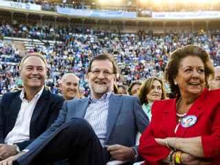 Mariano Rajoy con Rita Barberá en Valencia.