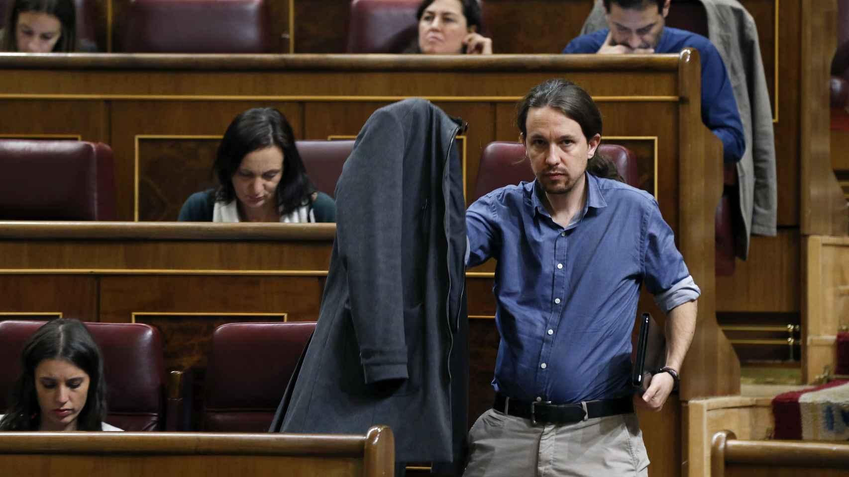 Pablo Iglesias en el pleno de este miércoles.
