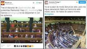 Los tuits que denuncian el sesteo de los diputados y el absentismo en la Cámara.