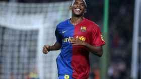 Samuel Eto'o, durante un partido con el FC Barcelona.