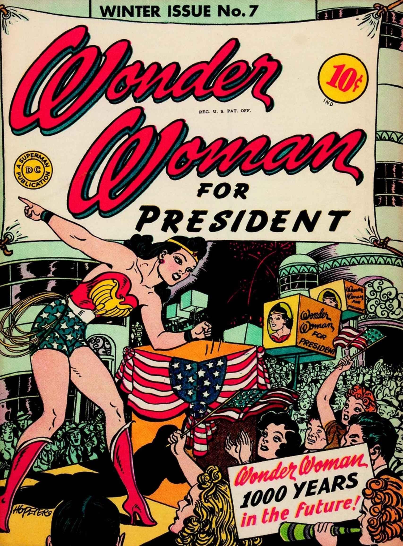Wonder Woman for President (diciembre 1943).