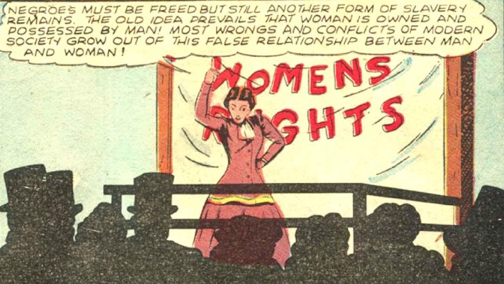 Wonder Women dedicado a la sugragista Susan B. Anthony.