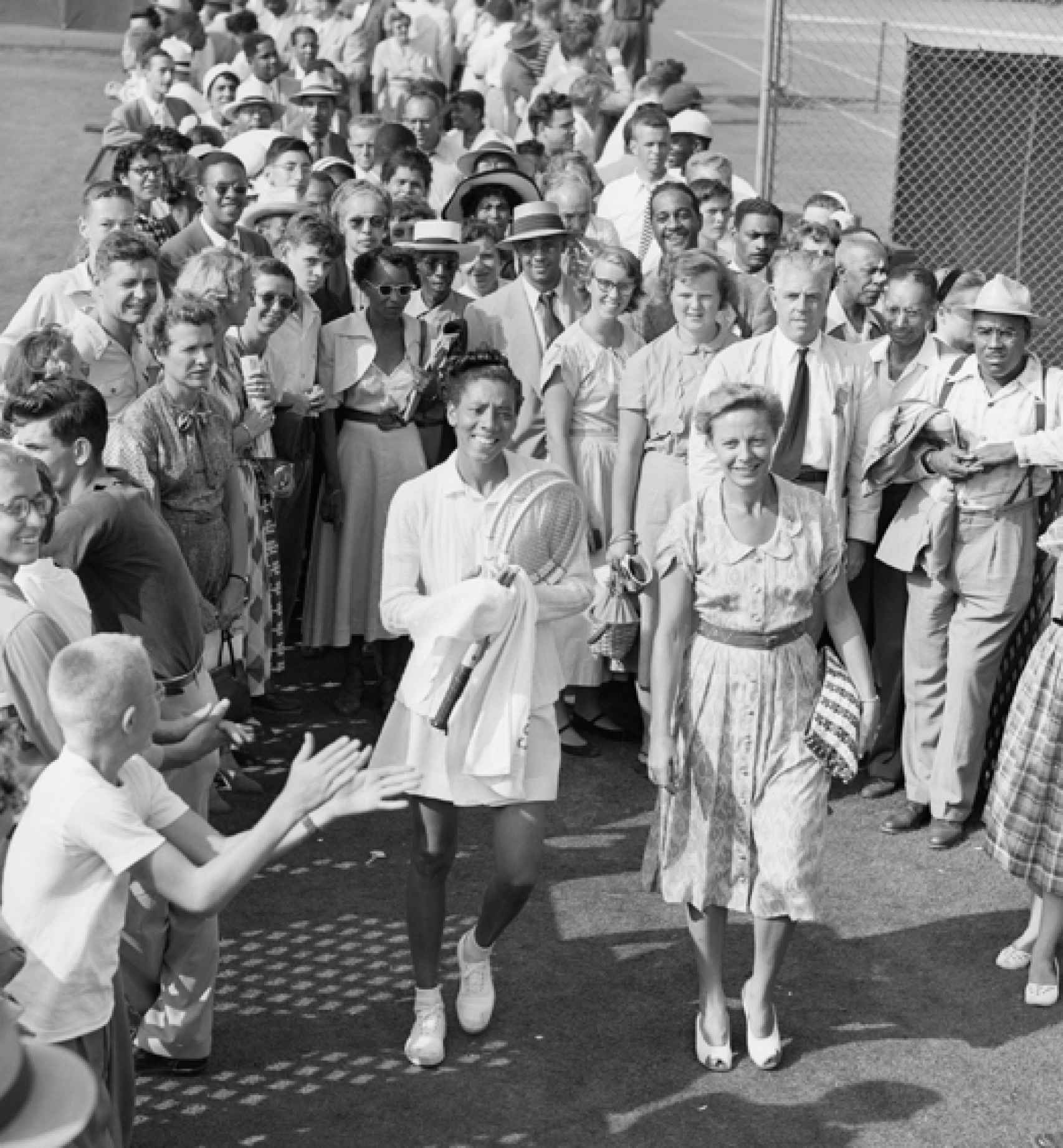Althea Gibson y Alice Marble.