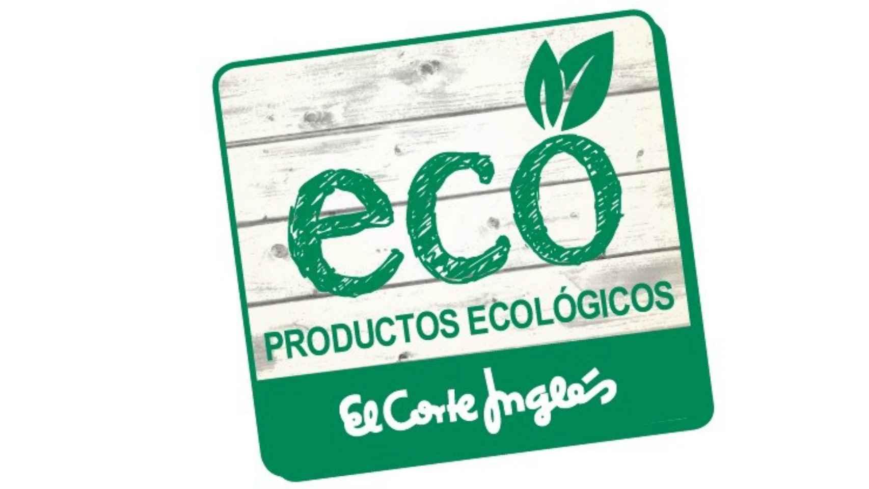 Etiqueta distintiva de alimentos ecológicos en las tiendas de El Corte Inglés