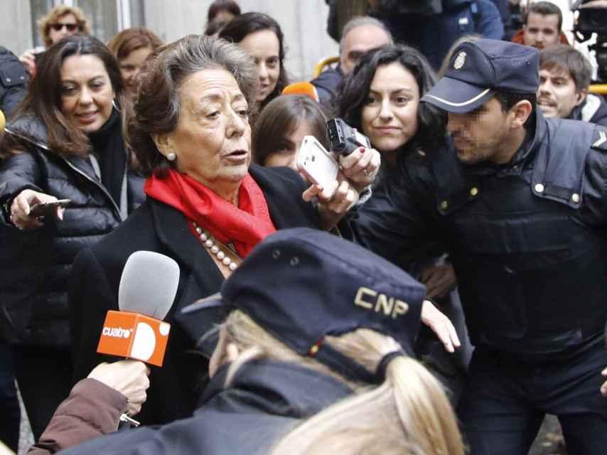 La senadora Rita Barberá, el pasado lunes, un día antes de su muerte.