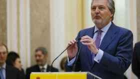 El ministro de Educación, Íñigo Méndez de Vigo, este viernes en el Ministerio